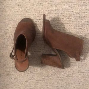 Lucky Brand open toe slide on booties